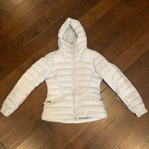 THE NORTH FACE ice blue thermal coat